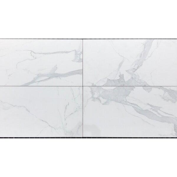 Mirage 12 x 24 Ceramic Field Tile in White by Bella Via