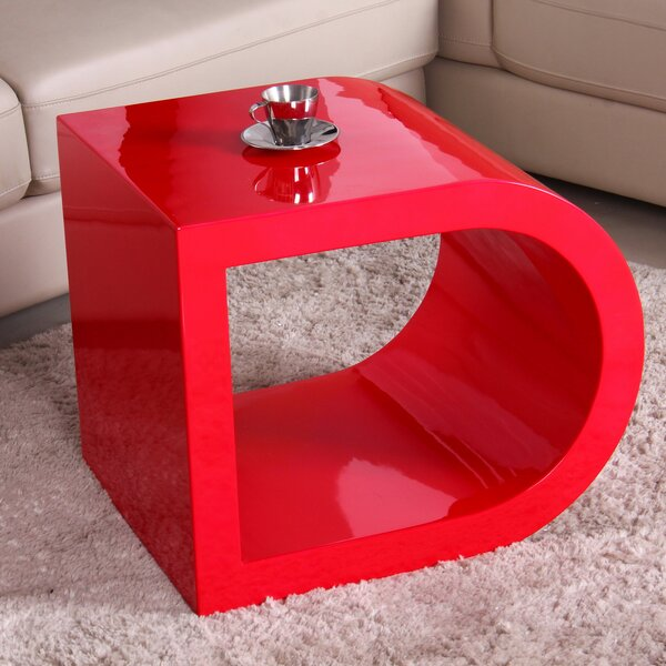 Glossy Functional Coffee Table by Fox Hill Trading