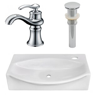 Find the perfect Ceramic 12 Wall Mount Bathroom Sink with Faucet ByAmerican Imaginations