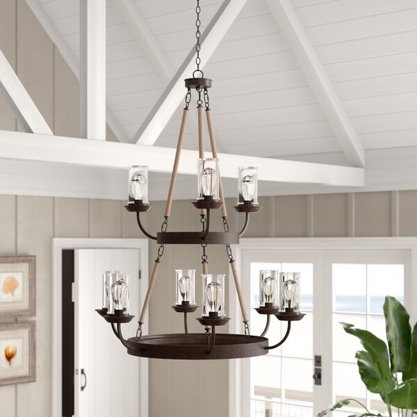 Sorrell 9-Light Shaded Chandelier by Beachcrest Home
