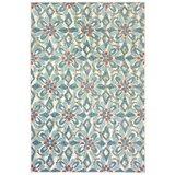 Gerritt Floral Blue Indoor/Outdoor Area Rug byEbern Designs