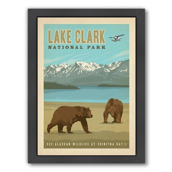 Lake Clark National Park Framed Vintage Advertisement by Loon Peak