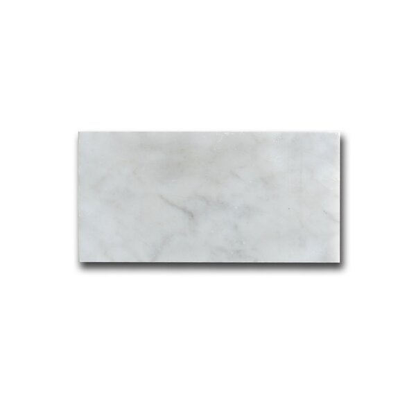 Carrara 3 x 6 Marble Field Tile in White by Matrix Stone USA