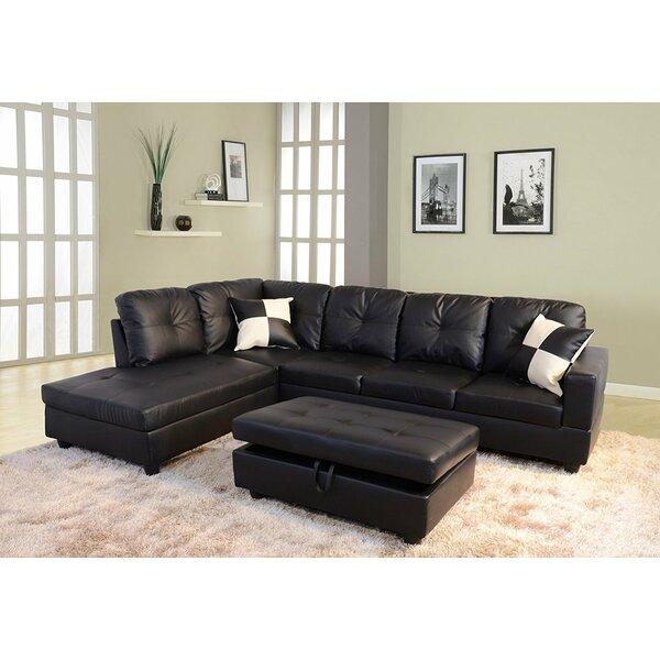 Deems 3 Piece Leather Living Room Set by Latitude Run