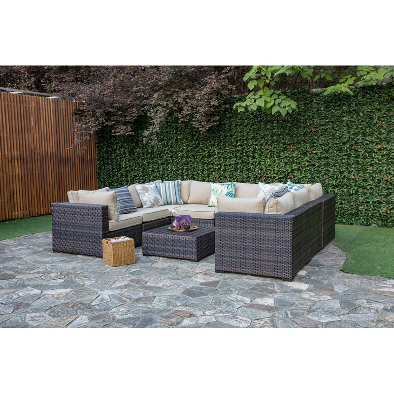 Lara 9 Piece Sectional Set With Cushions
