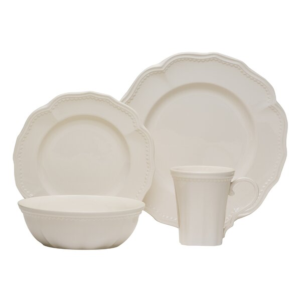 Classic White 16 Piece Dinner Set, Service for 4 (Set of 16) by Red Vanilla