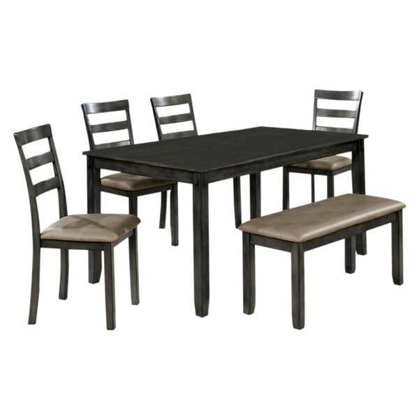 Reilly Wooden 6 Piece Counter Height Dining Table Set by Millwood Pines