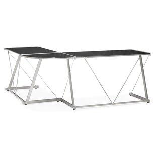 Glass desks wayfair ossana corner desk by orren ellis gumiabroncs Gallery