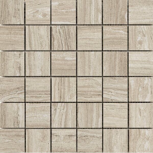 Terrane 2 x 2 Porcelain Mosaic Tile in Taupe by Emser Tile