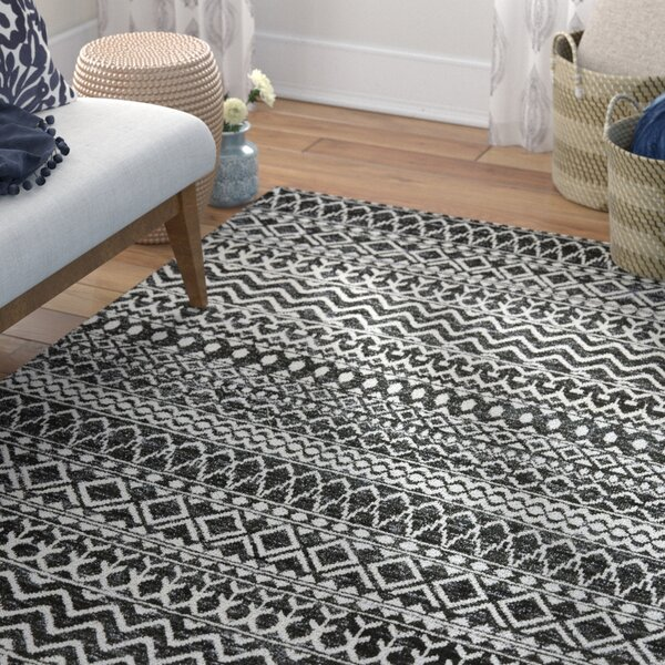 Lavonia Hand-Knotted Asphalt Area Rug by Bungalow Rose