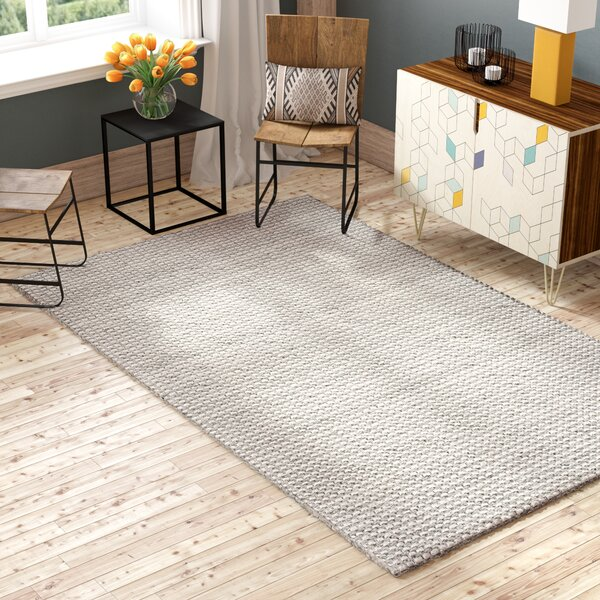 Alberta Hand Tufted Gray Area Rug  by Foundry Select