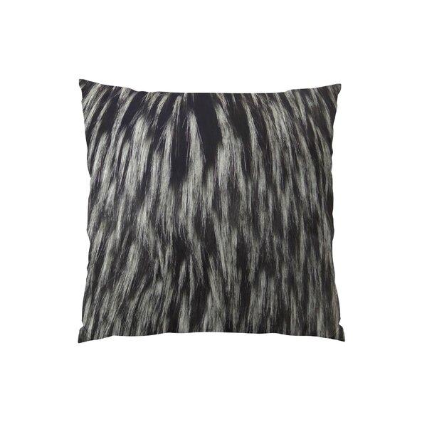 Wolf Fur Handmade Throw Pillow by Plutus Brands