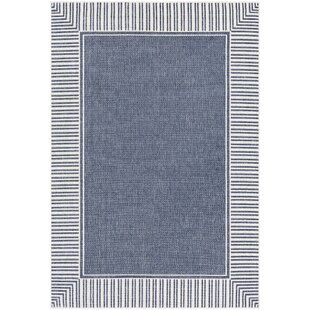 Oliver Charcoal/White Indoor/Outdoor Area Rug By Bay Isle Home