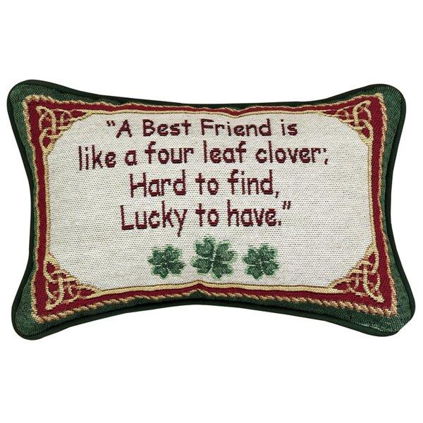 Irish Treasures Word Lumbar Pillow by Manual Woodworkers & Weavers