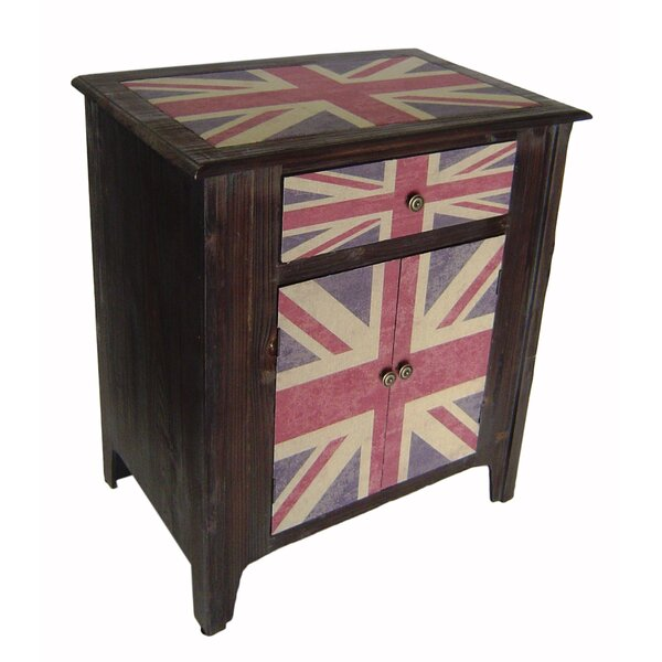 Union Jack 2 Door Accent Cabinet by Cheungs