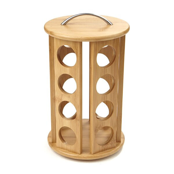 24-Pod Bamboo Coffee Pod Carousel by Mind Reader
