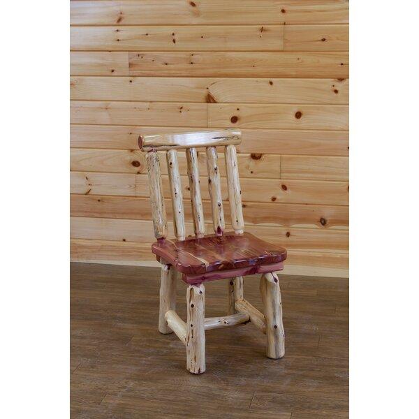 Gorgas Cedar Solid Wood Dining Chair by Loon Peak
