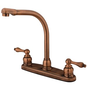 Kingston Brass Victorian Double Handle CentersetHigh Arch Kitchen Faucet