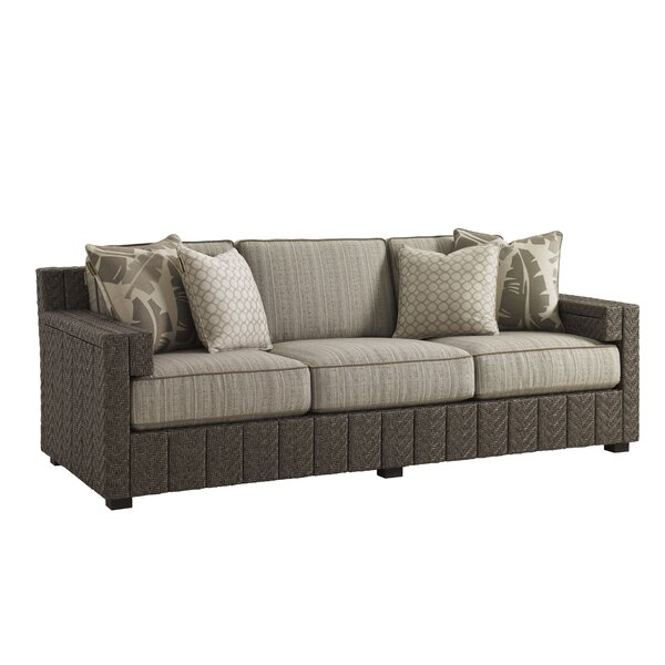 Olive Patio Sofa with Cushions by Tommy Bahama Outdoor