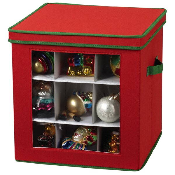 Storage and Organization 27 Piece Holiday Ornament Chest by Household Essentials