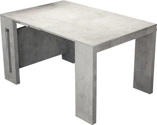 Earnest Concrete Extendable Dining Table by Orren Ellis
