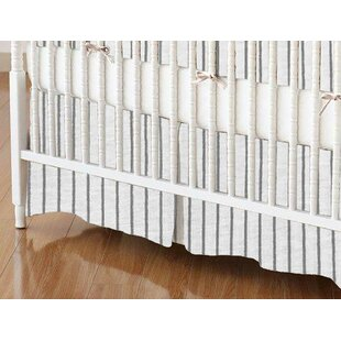 Reviews Pinstripe Crib Skirt By Sheetworld