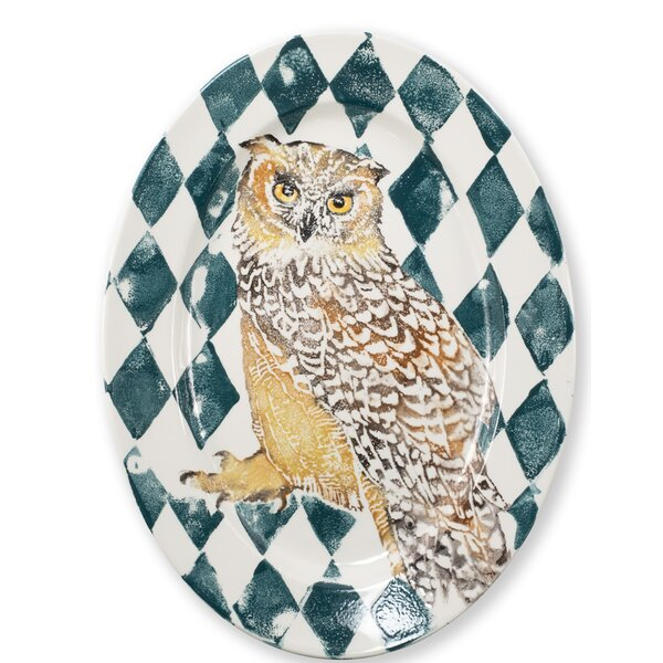 Owl Oval Platter by VIETRI