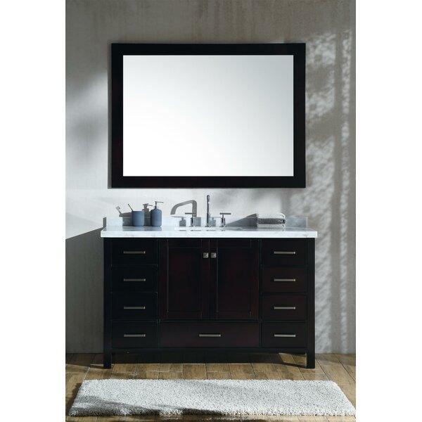 Marine 55 Single Rectangle Bathroom Vanity with Mirror by Andover Mills