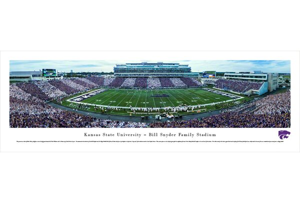 NCAA Kansas State University - 50 Yard Line - Stripe - Football by Robert Pettit Photographic Print by Blakeway Worldwide Panoramas, Inc