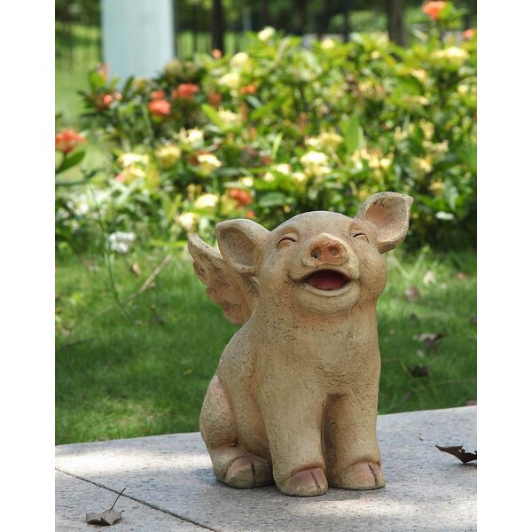 Walking Pig with Wings Statue by Hi-Line Gift Ltd.