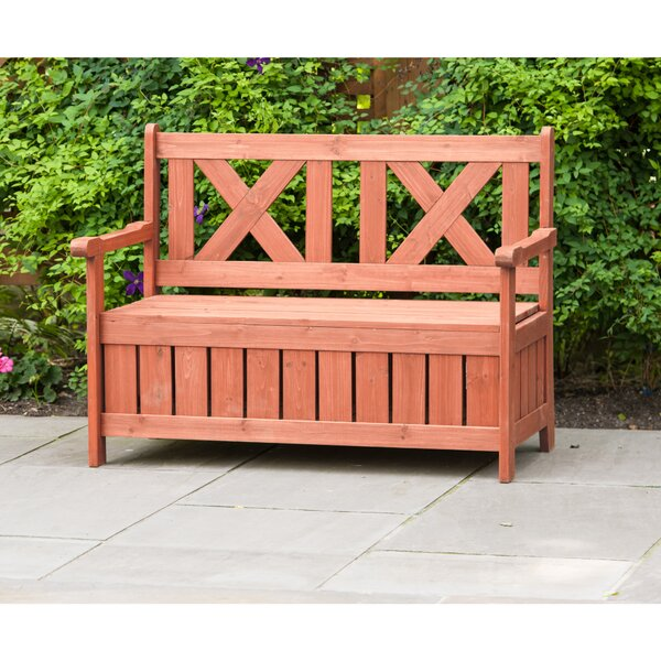 Solid Wood Storage Bench by Leisure Season Leisure Season