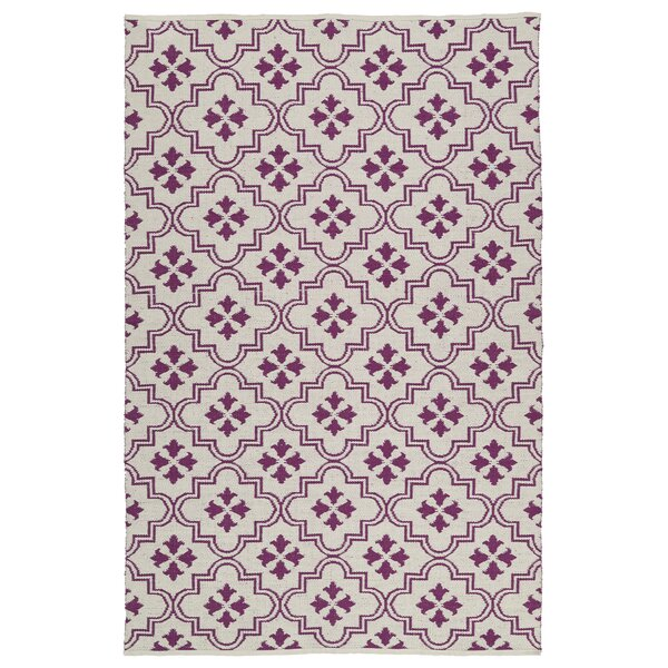 Covington Cream/Purple Indoor/Outdoor Area Rug by Charlton Home