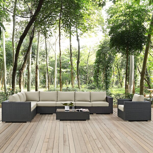 Tripp 7 Piece Patio Sunbrella Sectional Set with Cushions by Brayden Studio