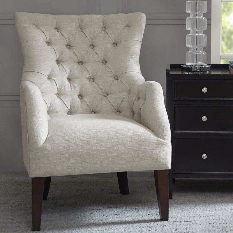 On Tufted Wingback Chair