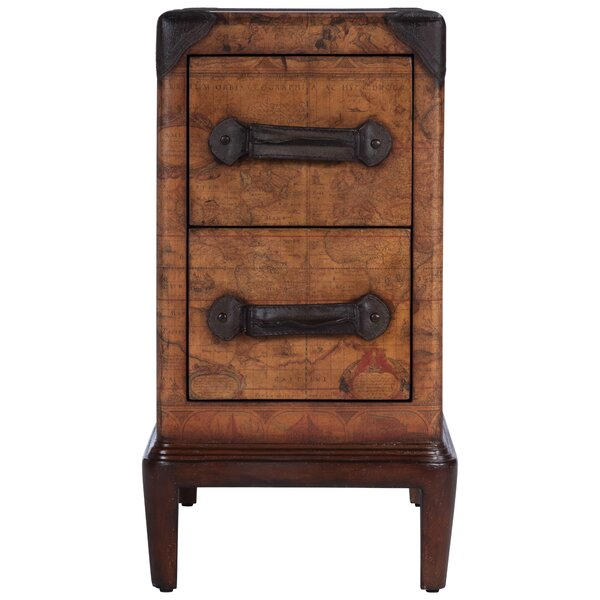 Dudash Old World Map End Table With Storage By World Menagerie