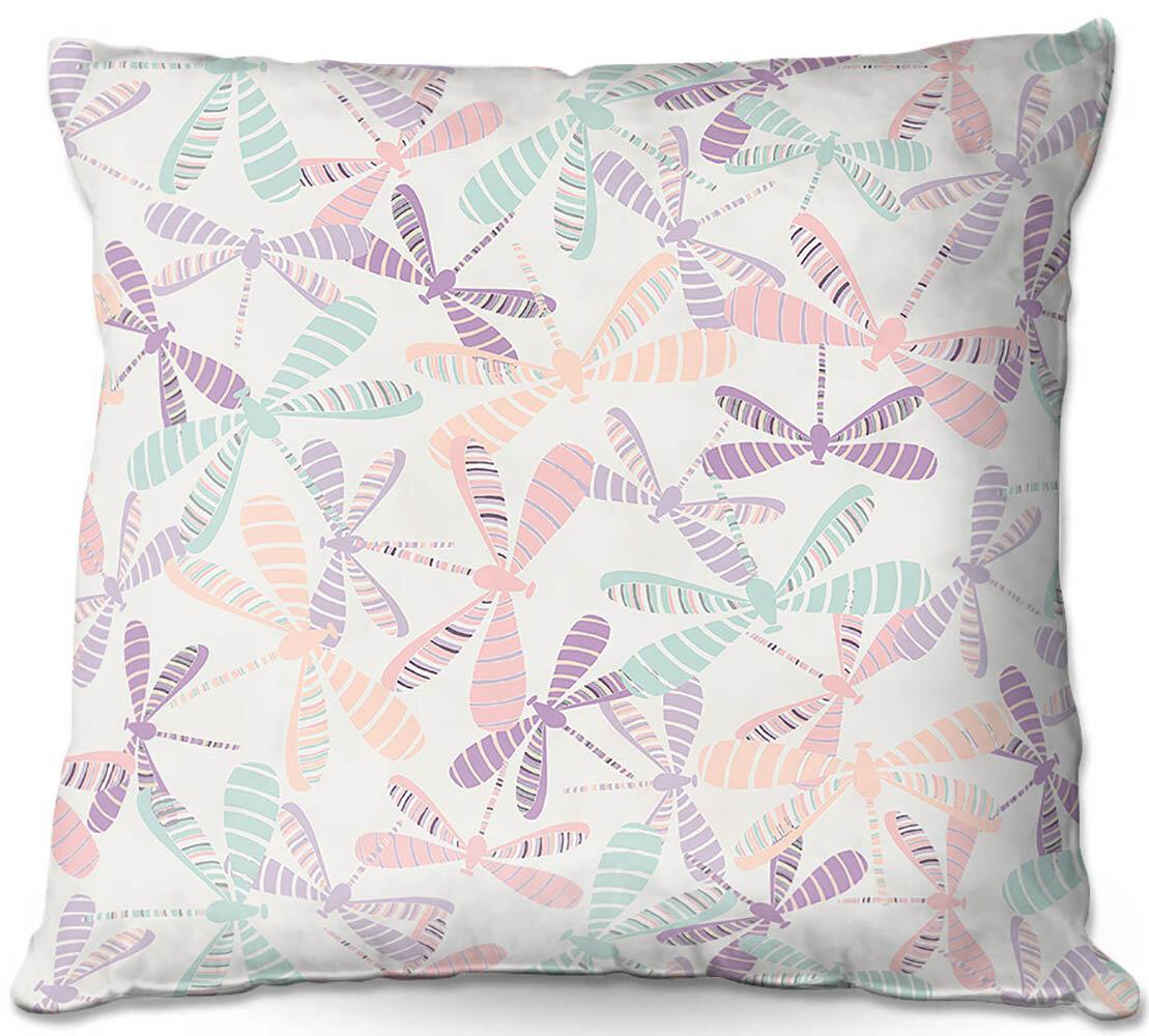 Ebern Designs Robidoux Couch Dragonflies Throw Pillow Wayfair