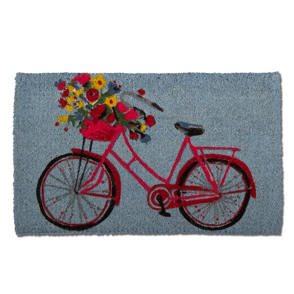 Bike Rider Coir Doormat by TAG