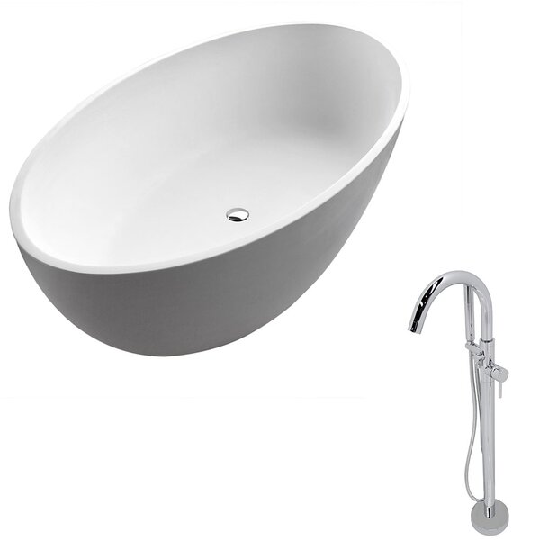 Cestino 66.5 x 36.4 Freestanding Soaking Bathtub by ANZZI