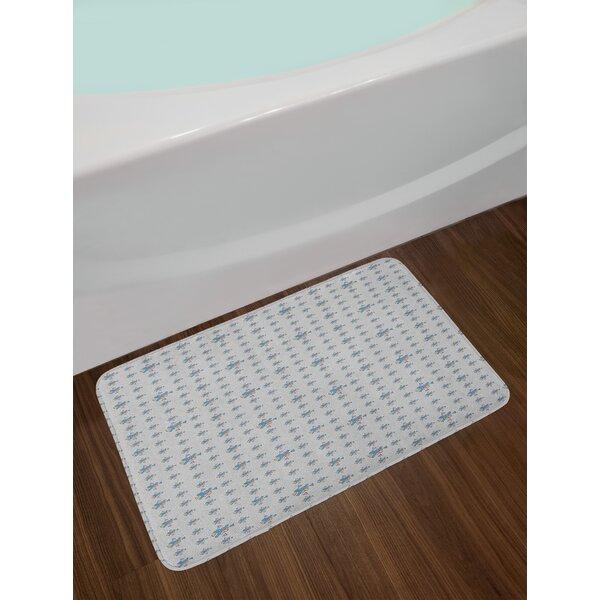 Pattern with Geometric Bath Rug by East Urban Home