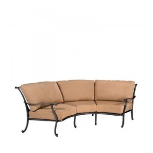 New Orleans Crescent Sofa with Cushions Woodard