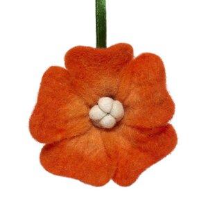 Felt Flower Christmas Ornament (Set of 3)