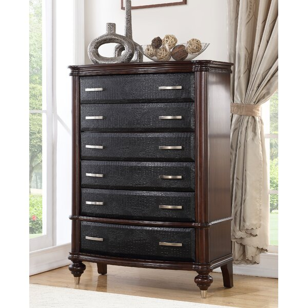 Calveston Luxury 6 Drawer Chest by World Menagerie