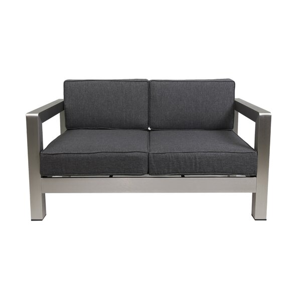 Herbst 2 Piece 2 Person Seating Group with Cushions by Wrought Studio