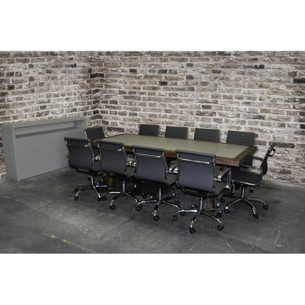 Surbhi Rectangular 30H x 42W x 92L Conference Table Set by Latitude Run
