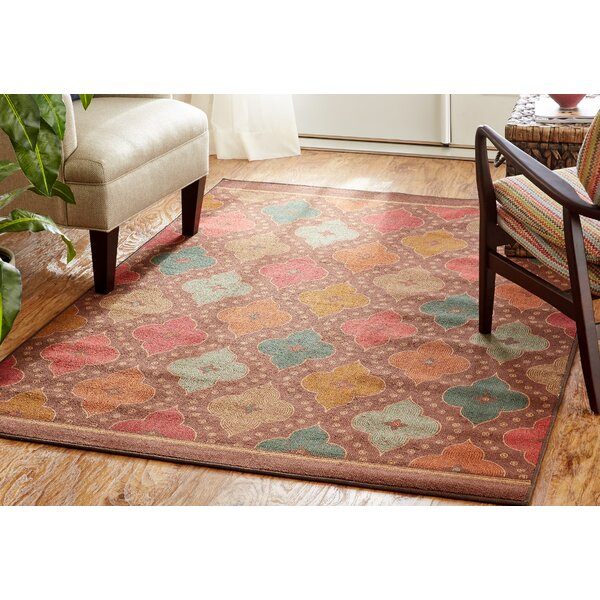 Karin Red/Teal Area Rug by World Menagerie