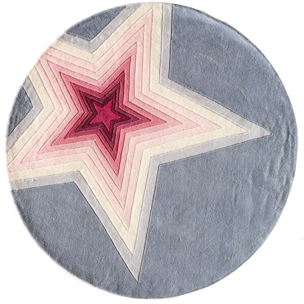 Fabio Hand-Tufted Pink/Gray Kids Rug by Viv + Rae