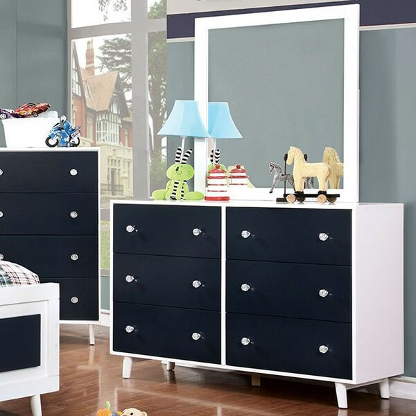 Sauve 6 Drawer Double Dresser by Harriet Bee