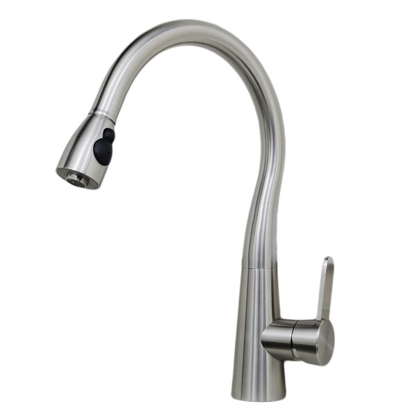 Alessio Pull Down Single Handle Kitchen Faucet by Wells Sinkware