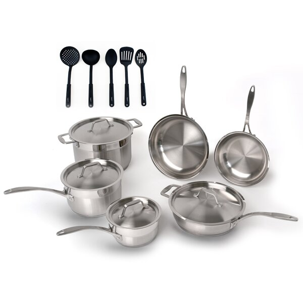 15 Piece Professional Stainless Steel Cookware Set by BergHOFF International