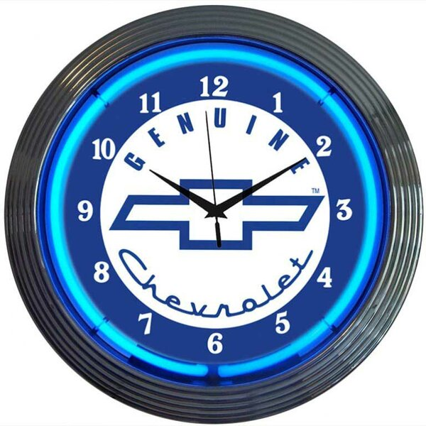 Cars and Motorcycles 15 Genuine Chevrolet Wall Clock by Neonetics